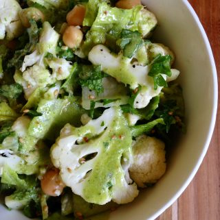 Cauliflower Salad with Chickpea Dressing