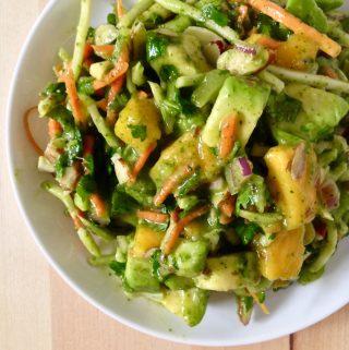 Avocado Salad with Mango Dressing
